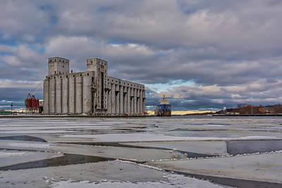 Photograph - Winter In The Port Of Owen Sound by Irwin Seidman