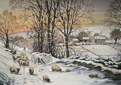 Winter In The Ribble Valley Art Print by Andrew Read