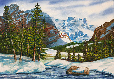 Painting - Winter In The Rockies by Douglas Castleman