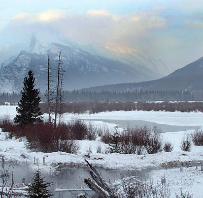 Photograph - Winter In The Rockies Square by Inge Riis McDonald