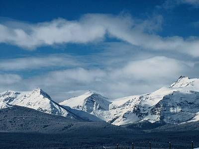 Photograph - Winter In The Rockies by Tracey Vivar