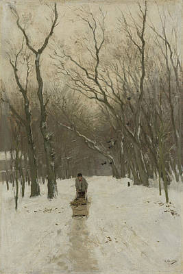Scheveningen Painting - Winter In The Scheveningen Groves by Anton Mauve