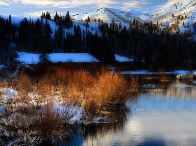 Beaver Pond Photograph - Winter In The Wasatch Mountains Of Northern Utah by Utah Images