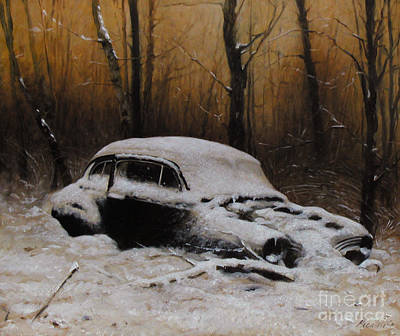 Painting - Winter In The Wood by Larry Preston