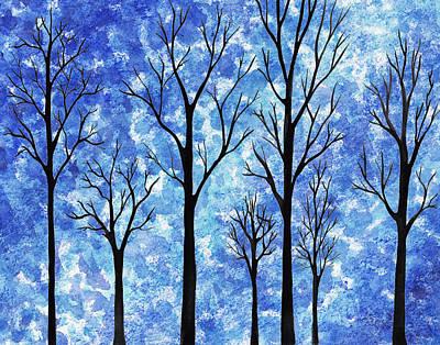 Painting - Winter In The Woods Abstract by Irina Sztukowski