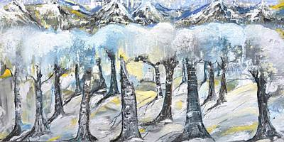 Painting - Winter In The Woods by Evelina Popilian