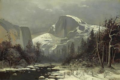 Winter In The Yosemite Valley Art Print