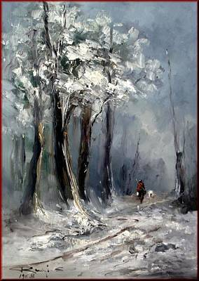 Contempory Art Galleries In Italy Painting - Winter In Tuscany by Rangi Sergio