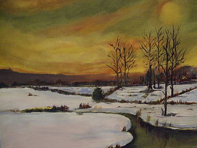 Painting - Winter In Upstate New York by Janet Visser