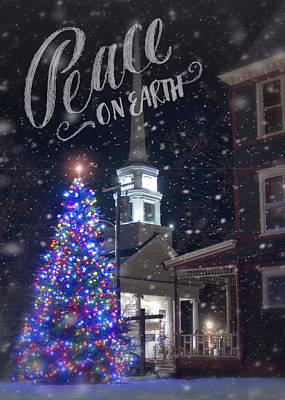 Peace On Earth Photograph - Winter In Vermont - Christmas by Joann Vitali