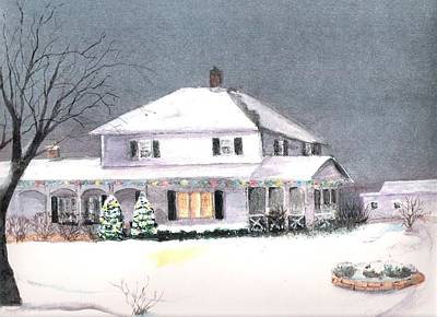 Painting - Winter In Wisconsin by Marsha Woods