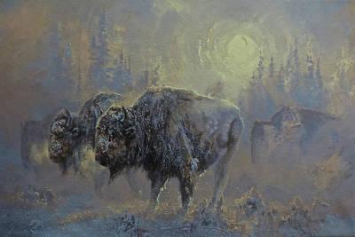 Winter In Yellowstone Art Print