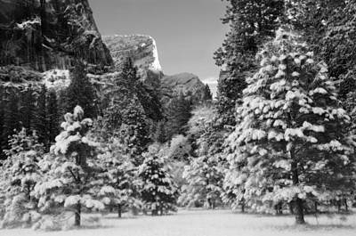 Winter In Yosemite Valley Art Print by Lawrence Knutsson