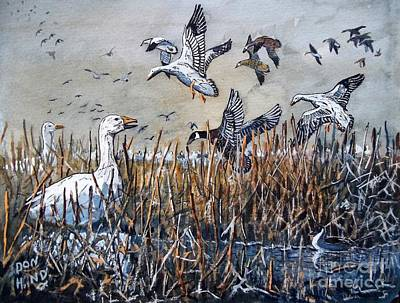 Snow Geese Painting - Winter Is Coming by Don Hand