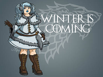 Digital Art - Winter Is Coming  by Jaymie Dylan