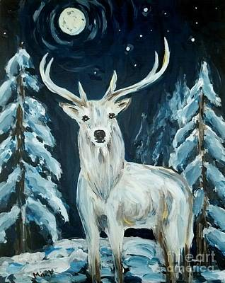 Painting - Winter Is Here by Maria Langgle