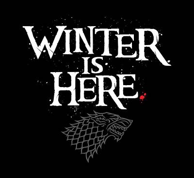 Raven Digital Art - Winter Is Here - Stark Sigil by Edward Draganski