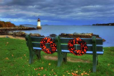 Photograph - Winter Island Lighthouse by Joann Vitali