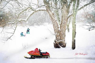 Digital Art - Winter by Jill Wellington