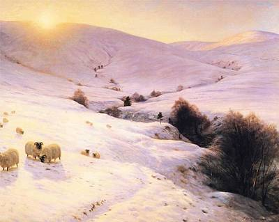 Joseph Farquharson Wall Art - Painting - Winter  by Joseph