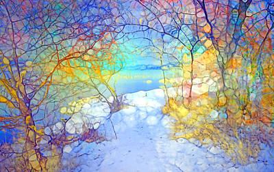 Vivid Colour Digital Art - Winter Joy by Tara Turner