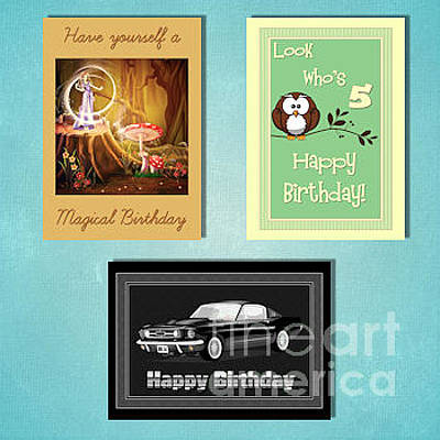 Digital Art - Winter Kids Birthday by JH Designs