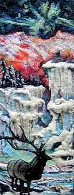 Needle Felting Tapestry - Textile - Winter by Kimberly Simon