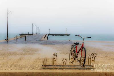 Photograph - The Winter Bike by Konstantinos Chatziamallos