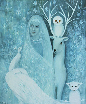 Winter Lady Art Print