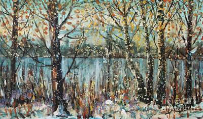 Painting - Winter Lake by Dariusz Orszulik