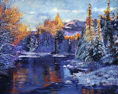 Winter Lake Memories Art Print by David Lloyd Glover