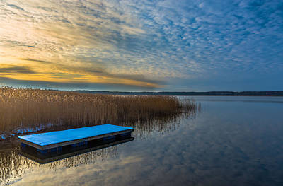 Photograph - Winter Lake View With A White Rectangle by Julis Simo