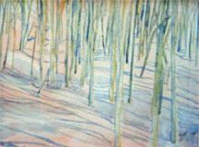 Winterland Scape Painting - Winter Landscape 1 by Lloyd Bast