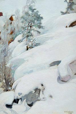 Pekka Wall Art - Painting - Winter Landscape, 1908 by Pekka Halonen
