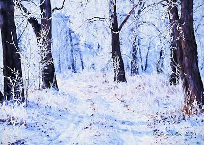 Digital Art - Winter Landscape 2 by Charmaine Zoe