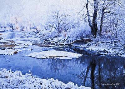 Digital Art - Winter Landscape 3 by Charmaine Zoe
