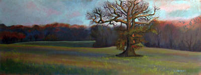 Wall Art - Painting - Winter Landscape by Alison Stafford