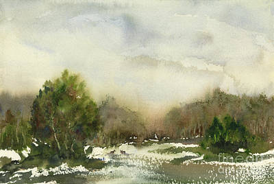 Painting - Winter Landscape by Amy Kirkpatrick