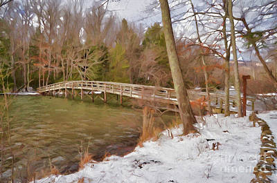 Photograph - Winter Landscape At Hungry Mother State Park by Kerri Farley