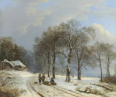 Winter In The Country Painting - Winter Landscape by Barend Cornelis Koekkoek
