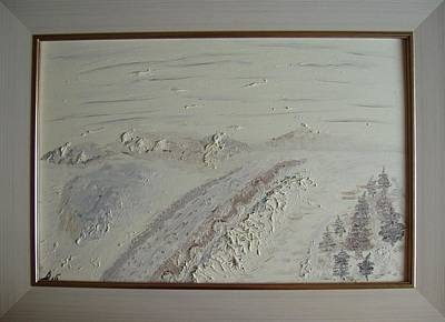 Painting - Winter Landscape. Fantasy. by Bennu Bennu