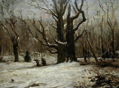 Cold Painting - Winter Landscape by Gustave Courbet