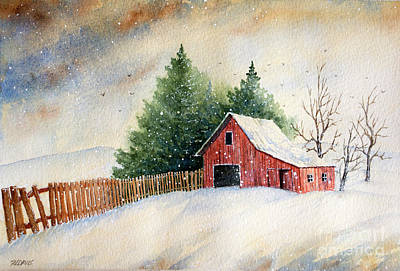 Painting - Winter Landscape IIi by Rebecca Davis