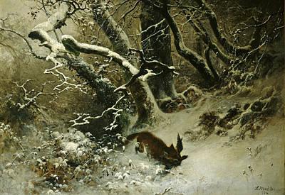 Winter Landscape Art Print by Ludwig Munthe