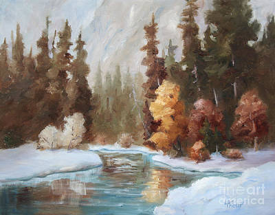 Painting - Winter Landscape Original Oil Painting by Brenda Thour