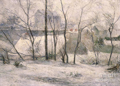 Snow Scene Painting - Winter Landscape by Paul Gauguin