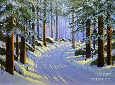 Ski Painting - Winter Landscape Study 1 by Frank Wilson