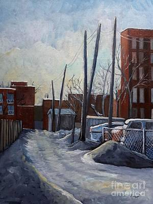 Painting - Winter Lane by Reb Frost