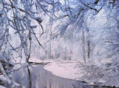 Painting - Winter by Lelia DeMello