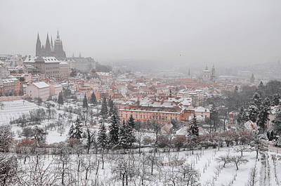 Photograph - Winter Lesser Town. Snowy Walk In Prague by Jenny Rainbow